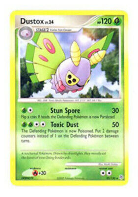 1x - Dustox - 25/130 - Rare LP, English Pokemon Diamond and Pearl