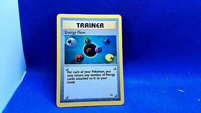 Energy Flow 122/132 *Excellent* Pokemon Card Gym Heroes used