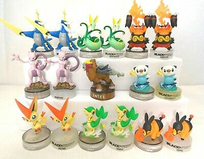 Vintage Pokemon Black and White Figures with Stands Promo Bottle Cap