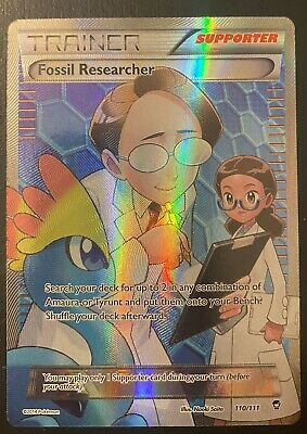 Pokemon XY Furious Fists Trainer Fossil Researcher FA Holo 110/111 Ultra Rare