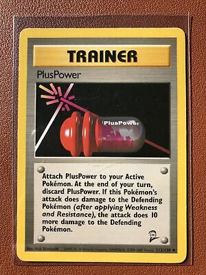 Pokemon Trainer Card - PlusPower - Base Set 2 113/130 - Uncommon