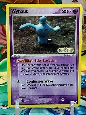 Wynaut 71/92 EX Legend Maker Stamped Holo Pokemon Card - MINT-NM