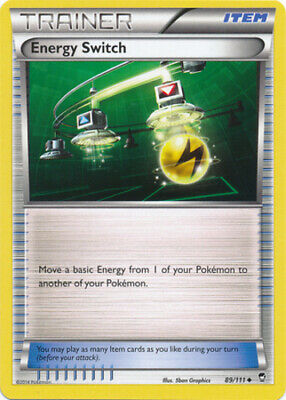 1x - Energy Switch - 89/111 - Uncommon NM, English Pokemon Furious Fists