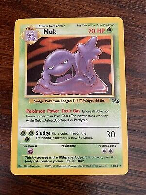 Muk 28/62 Non-Holo Fossil Set Rare Pokemon Card - Near Mint