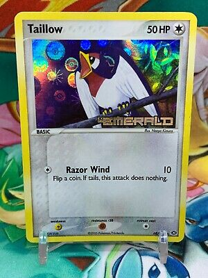 Pokemon Taillow 68/106 EX Emerald Holo Rare Card - Stamped - LP-NM