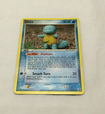 Pokemon Trading Card Game TCG EX Delta Species Ditto As Squirtle 40/113
