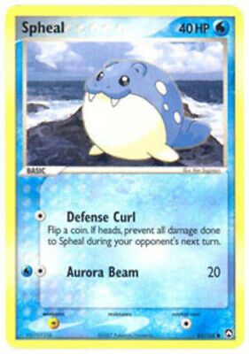 1x - Spheal - 65/108 - Common HP, English Pokemon EX Power Keepers