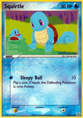 1x - Squirtle - 82/112 - Common PL/MP, English Pokemon EX FireRed & LeafGreen