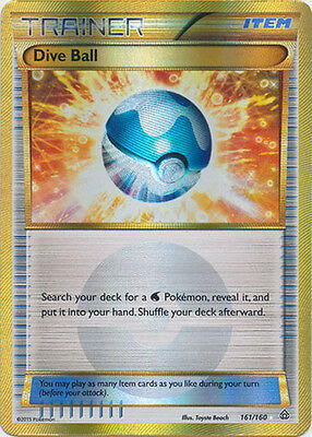 Pokemon Primal Clash Dive Ball - 161/160 - Secret Rare Card