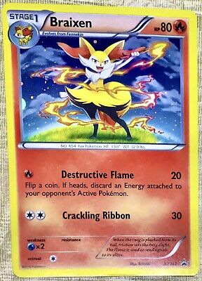 Braixen - XY161 - Holo - Rare - BLACK STAR PROMO POKEMON CARD