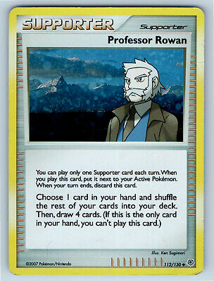 Diamond & Pearl Holo Professor Rowan 112/130 Pokemon Trading Card MP / HP