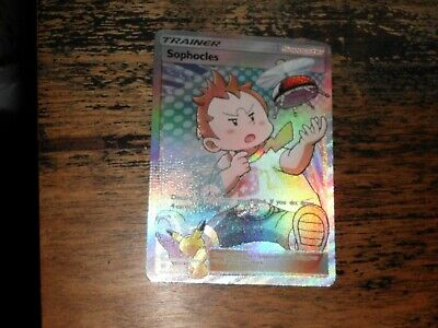 Pokemon Ultra Rare Holo Foil Full Art Sophocles Card 146/147 SM Burning Shadows