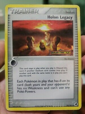 Pokemon HOLON LEGACY 74/101 [Stamped Reverse Holo Rare] [EX Dragon Frontiers] MP