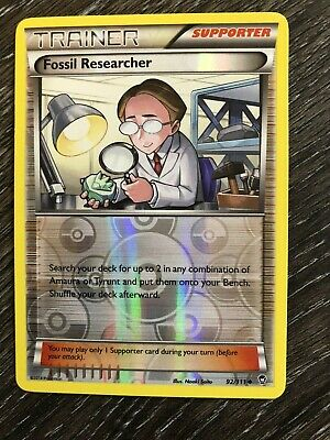 ))) Fossil Researcher - 92/111 - Reverse Holo Rare Pokemon XY Furious Fists (((