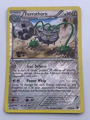Pokemon💎Ferrothorn Reverse Holo💎2011 Emerging Powers 73/98🌟Nintendo🌟Rare