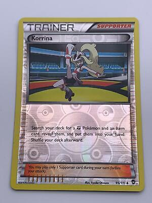 Pokemon💎Korrina Trainer Reverse Holo💎2014 - XY - Furious Fists - #95/111🌟