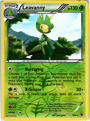 Emerging Powers Reverse Holo Leavanny 7/98 Pokemon Trading Card LP NM