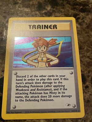 2000 Gym Heroes Trainer Misty 18/132 Holo Pokemon