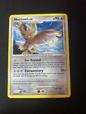 Noctowl 34/130 Diamond & Pearl Non Holo Rare Light Play LP Pokemon DNA GAMES