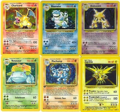 Pokemon Card Selection Base, Jungle, Fossil Set Holos, Rare, Uncommon, Common