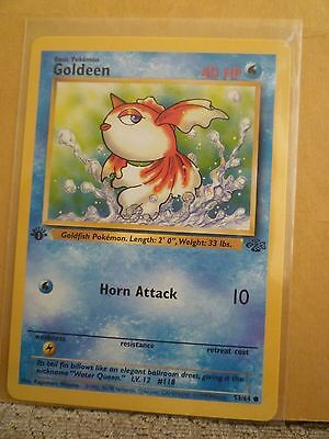 Pokemon Goldeen 1st edition Jungle 53/64