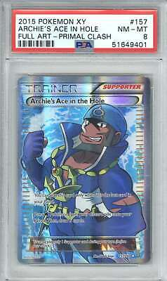 2015 Pokemon XY Primal Clash 157 Archie's Ace in the Hole/Full Art PSA 8