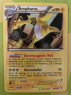 AMPHAROS 40/124 Dragons Exalted HOLO rare Pokemon card Near Mint NM