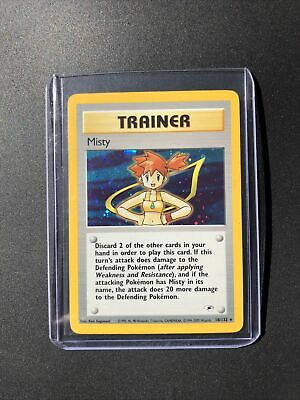 Misty Trainer Card Gym Heroes 18/132 Pokemon Card Foil Holo