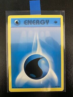 Water Energy 1st First  Edition Pokemon Card Base Set Shadowless 102/102