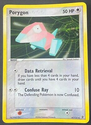 Pokemon Card Porygon (EX FireRed & LeafGreen) 47/112 EX/NM Reverse Holo Uncommon