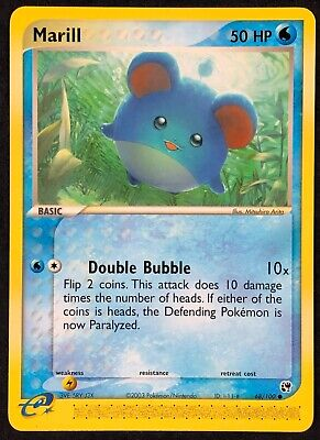 Pokemon Card Marill (EX Sandstorm) 68/100 EXCELLENT/NEAR MINT Non-Holo Common!!!