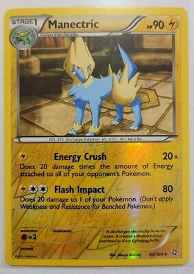 Pokemon Single Dragons Exalted Manectric Reverse Holo 43/124 NM/M Condition