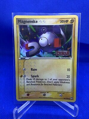 Pokemon Magnemite 54/108 EX Power Keepers Holo Stamped Card LP