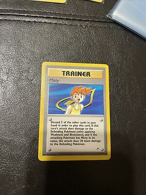 Pokemon Gym Heroes Unlimited Misty 102/132 in VLP condition