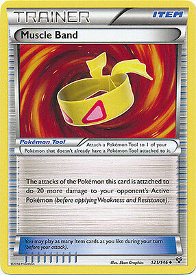 Pokemon XY Muscle Band 121/146 Uncommon Trainer Card