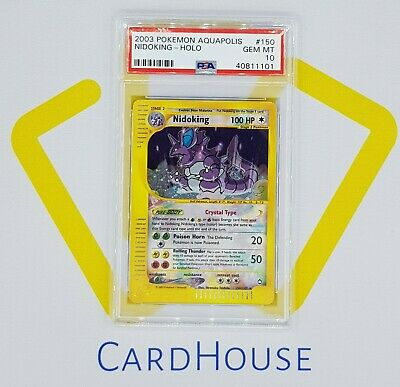 PSA 10 GEM MINT Nidoking Crystal Aquapolis Holo Pokemon WOTC 2003 E-Reader