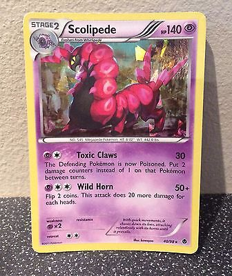 Scolipede 40/98 Emerging Powers Set Rare Holo Shiny Pokemon Card Used Condition