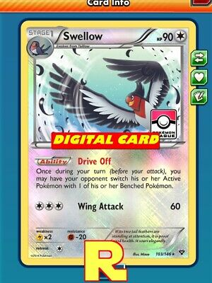 Swellow (League FOIL XY) - for Pokemon TCG Online (DIGITAL ptcgo in Game Card)