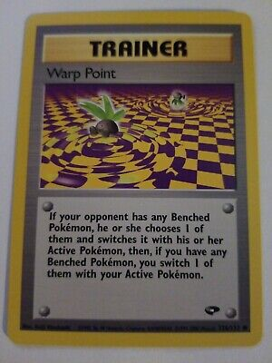 Pokemon Card -  Trainer Warp Point - (126/132) Gym Challenge ***NM***