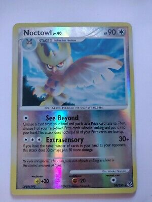 Pokemon Diamond & Pearl Noctowl 34/130 trading card - reverse holo