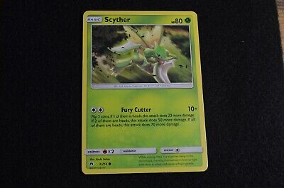 Pokemon SCYTHER Sun & Moon Lost Thunder 3/214 NM/Mint Never Played