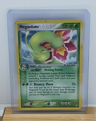 Meganium Stamped Holo / Shiny Pokemon TCG Card EX Unseen Forces 9/115 Light Play