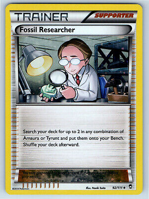Furious Fists Alternate Holo Fossil Researcher 92/111 Pokemon Trading Card LP