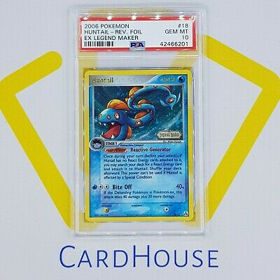 PSA 10 GEM MINT Huntail Reverse Holo Ex Legend Maker Pokemon 2006