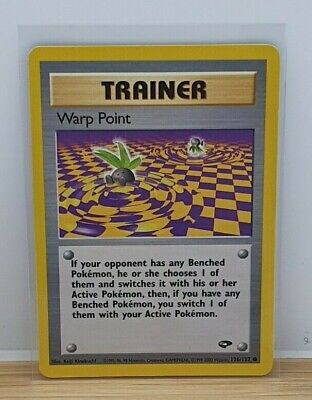 Warp Point Non Holo Pokemon TCG Card Gym Challenge 126/132 2000 Light Play