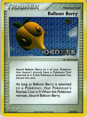 EX Deoxys Reverse Holo Stamp Balloon Berry 84/107 Pokemon Trading Card LP