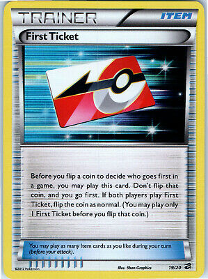 Dragon Vault First Ticket Holo 19/20 Pokemon Trainer Trading Card LP NM