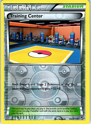 Furious Fists Training Center 102/111 Reverse Holo Pokemon Trading Card LP NM