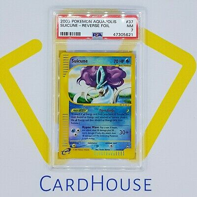 PSA 7 NEAR MINT Suicune Aquapolis Reverse Holo 2003 Pokemon E-Reader