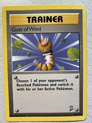 Pokemon Card - Gust of Wind - (120/130) Base Set 2 Trainer ***NM***